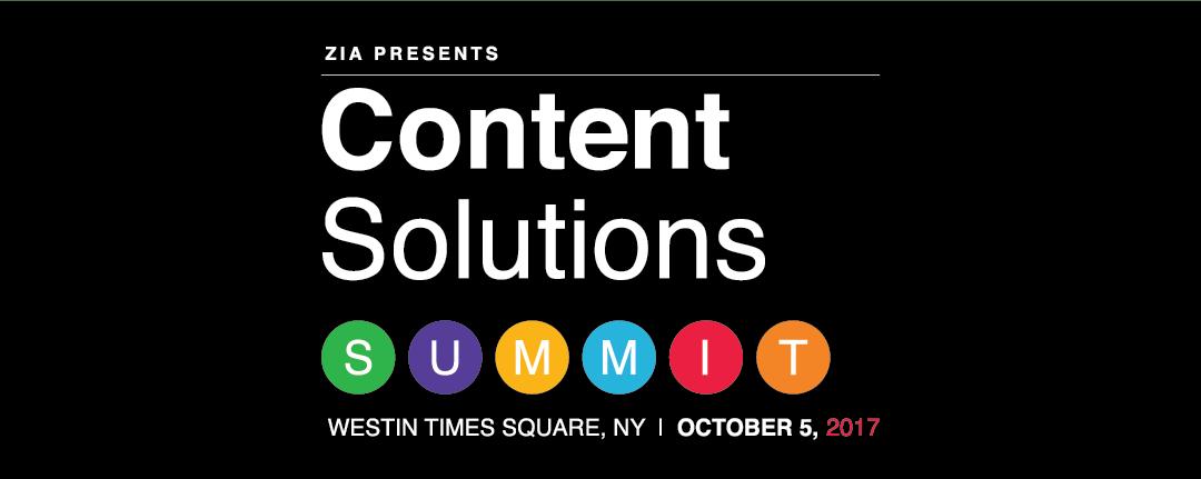 Content Solutions Summit 2017 Recap