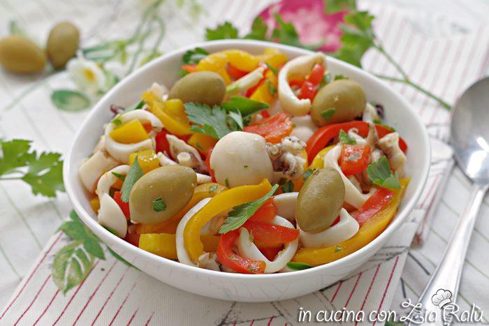 Insalata di seppie mediterranea – ricetta light