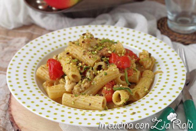 pasta verdesca zucchine e pistacchi