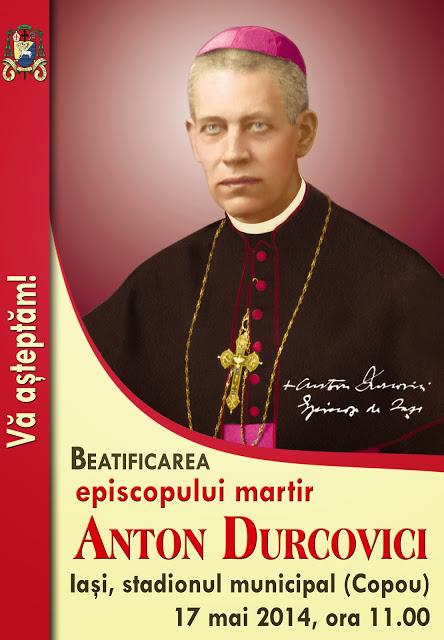 Mii de pelerini din zona Roman participă la beatificarea episcopului martir Anton Durcovici