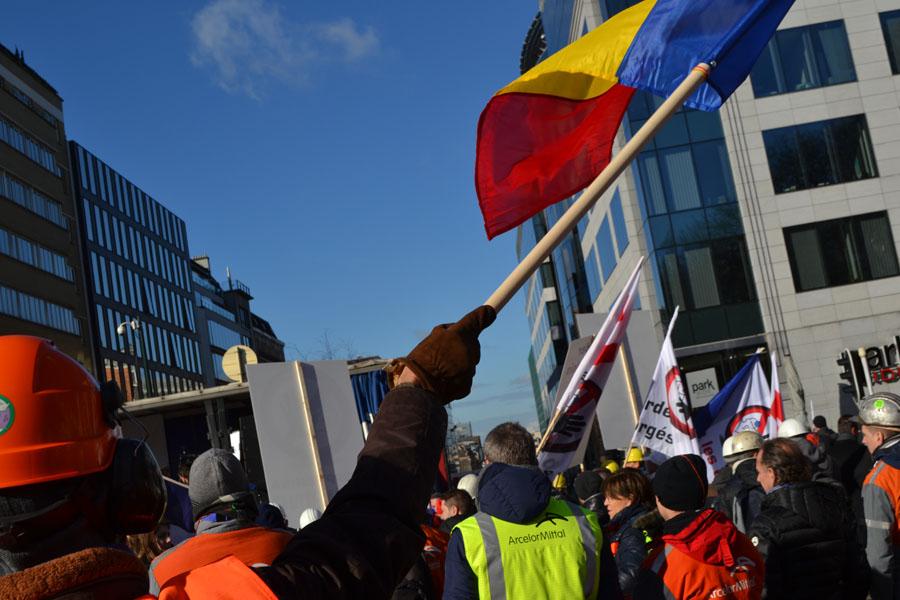 Țevarii au protestat la Bruxelles