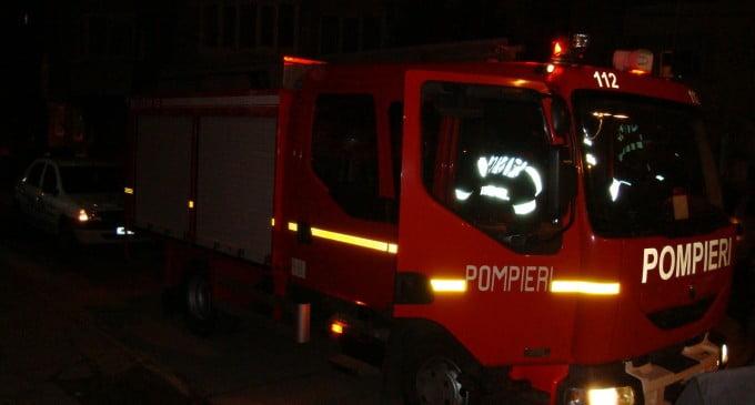 Femeie rănită în urma unui incendiu, pe strada Olteniei