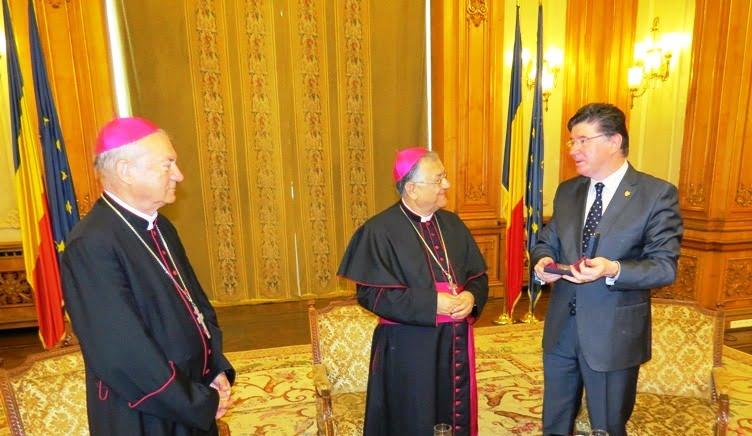 Senatorul Ioan Chelaru, întâlnire cu PF Fouad Twal, Patriarhul latin emerit al Ierusalimului