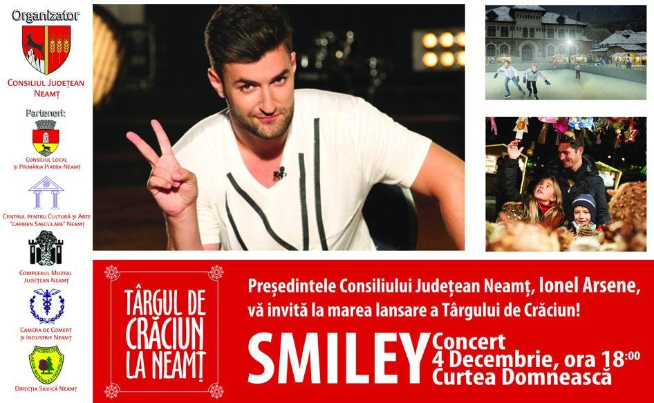 Târg de Crăciun la Piatra Neamț. Vor concerta Smiley, Lidia Buble, Bere Gratis, Proconsul și Gheorghe Zamfir