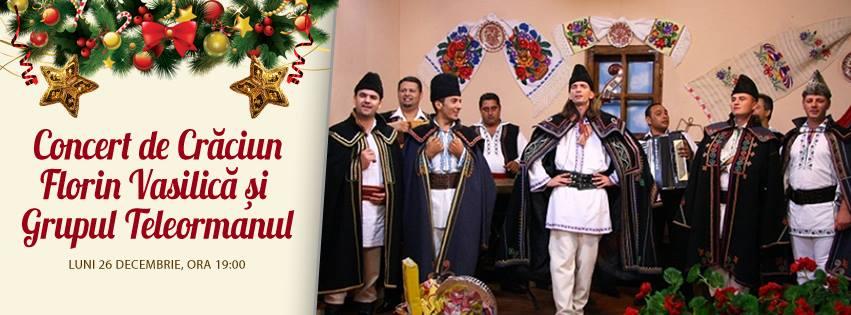 Concert de Crăciun cu Florin Vasilică și Grupul Teleormanul, la Hanu Ancuței