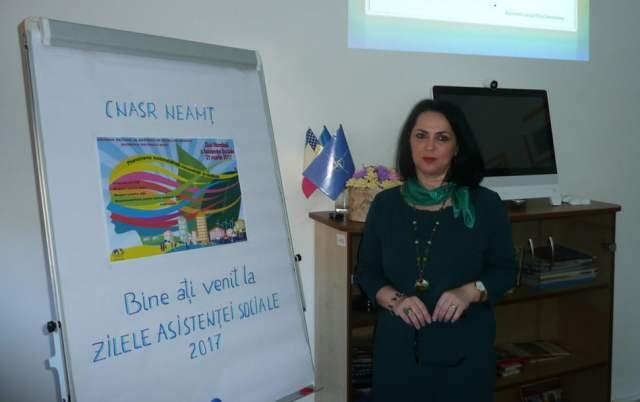 Mirela Negruș, președintele Colegiului Asistenților Sociali Neamț