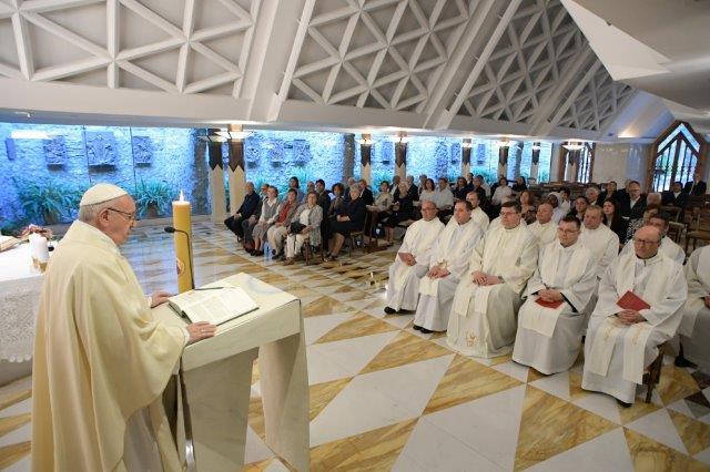 Preoți nemţeni în vizită la Papa Francisc