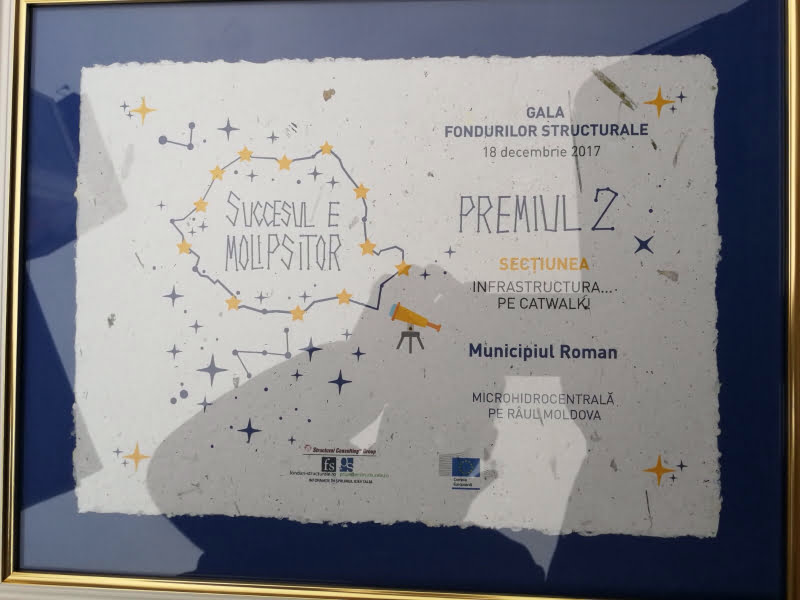 Premiu la Gala Fondurilor Structurale pentru Primăria Roman