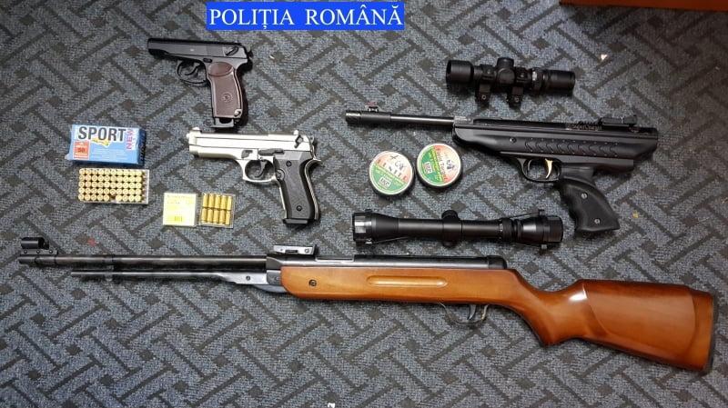 Bărbat din Secuieni, reţinut pentru infracţiuni la regimul armelor şi muniţiilor