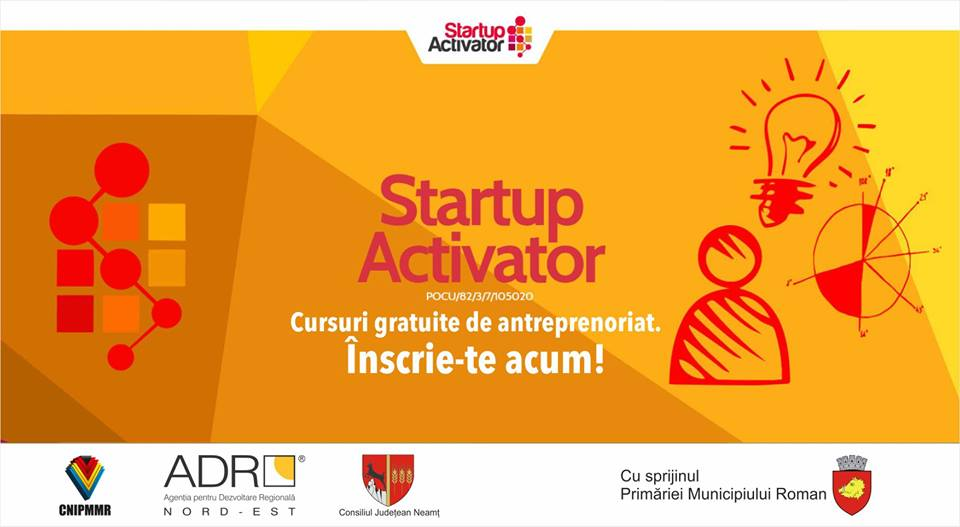 Finanțări nerambursabile pentru noi afaceri și cursuri gratuite de competențe antreprenoriale, pentru romașcani