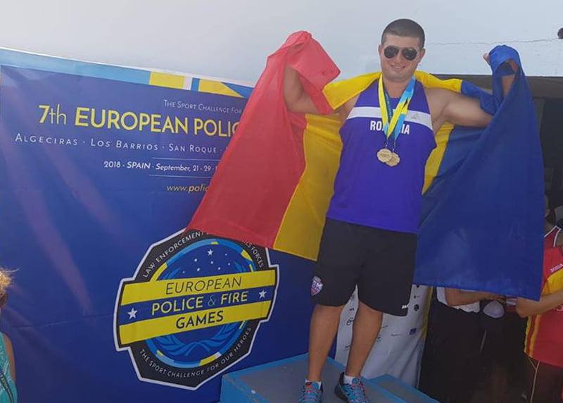 Pompier romașcan, de patru ori medaliat cu aur la Campionatul European al Polițiștilor și Pompierilor