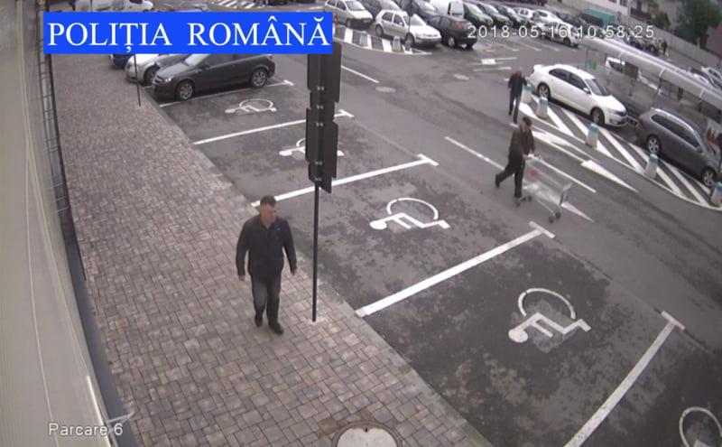 Căutat de poliţişti, după ce ar fi sustras bani dintr-o mașină la mall