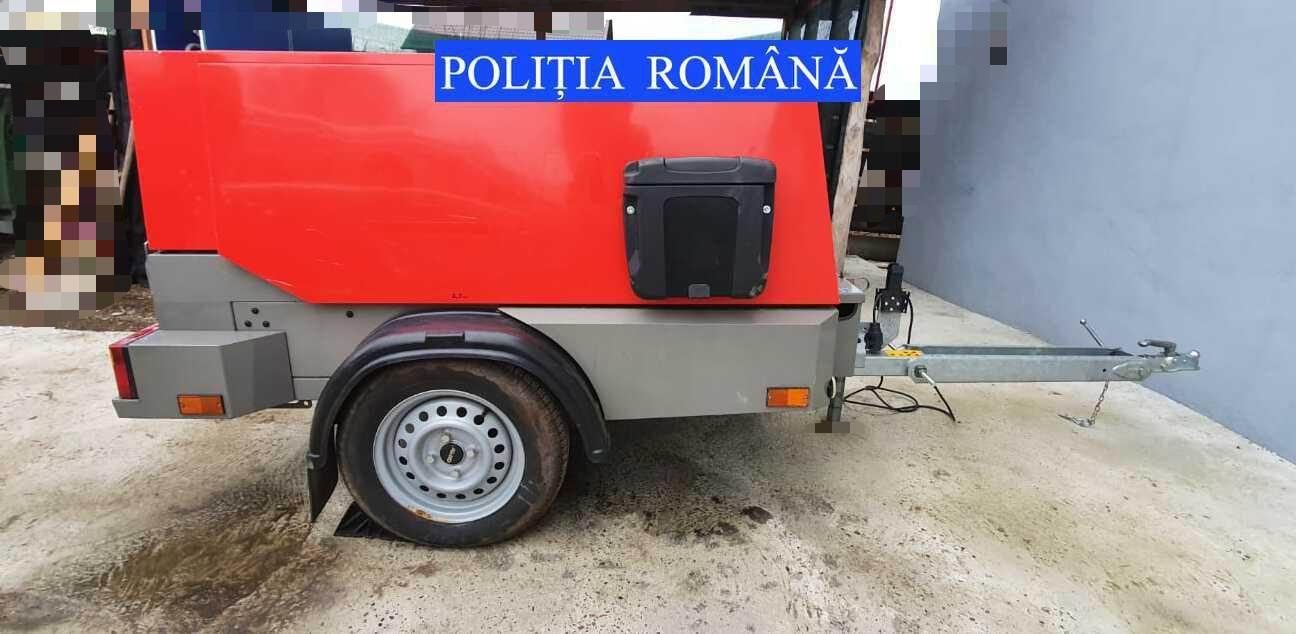 """Motocompresor indisponibilizat în Roman, în cadrul operațiunii """"Trivium"""""""