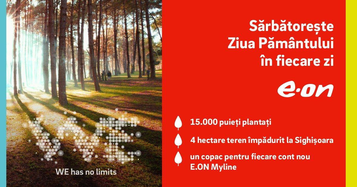 E.ON a împădurit patru hectare de teren degradat, cu susținerea clienților