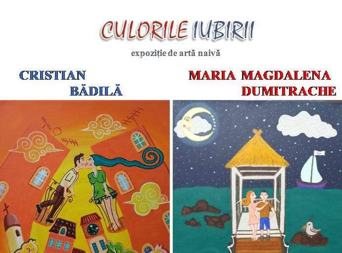 """""""Culorile iubirii"""", expoziție semnată de Cristian Bădilă și Maria Magdalena Dumitrache, la Muzeul de Artă din Roman"""