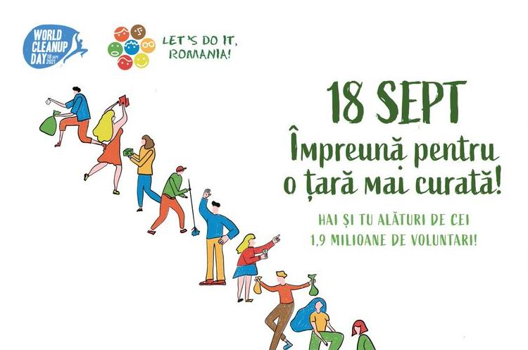 """Peste 200 de voluntari participă sâmbătă la Roman la """"Ziua de Curățenie Națională"""""""