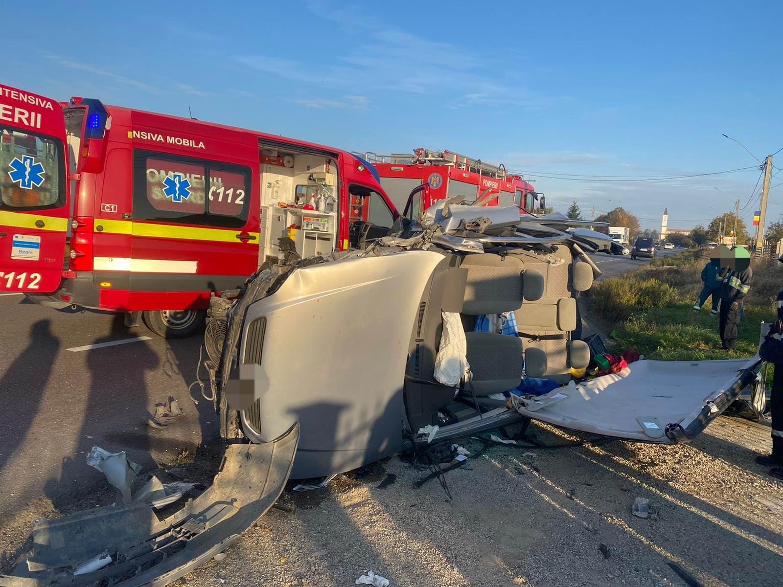 Accident rutier pe E 85, la Traian
