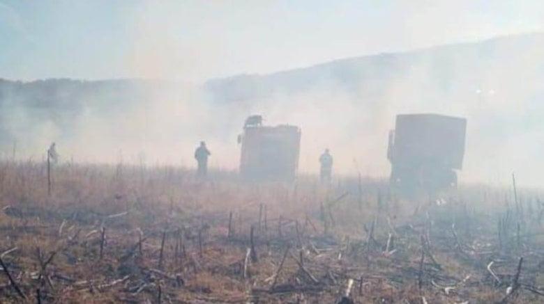 30 de hectare de miriște au ars în comuna Bozieni