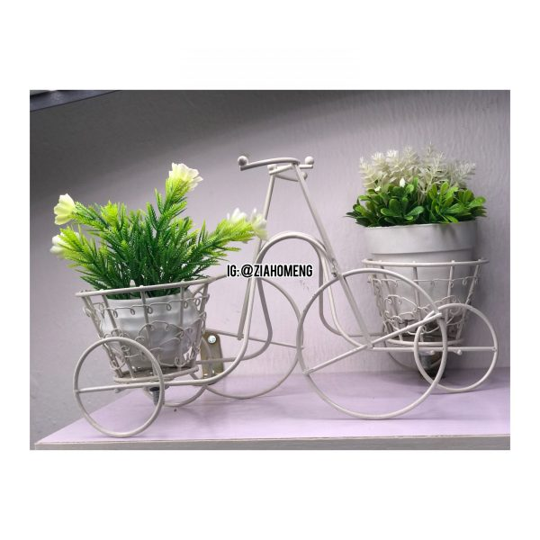 Vintage Bicycle Double Flower Pots Holder