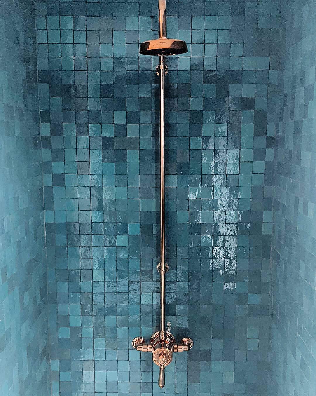 perfectly imperfect zellige shower tiles