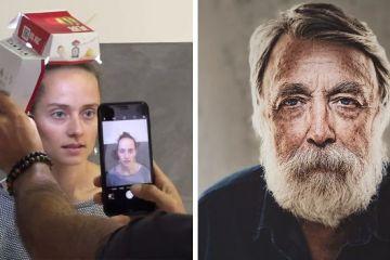 Questo artista ha usato un Iphone una torcia e una scatola di McDonald's per dei ritratti fotografici e i risultati sono sorprendenti