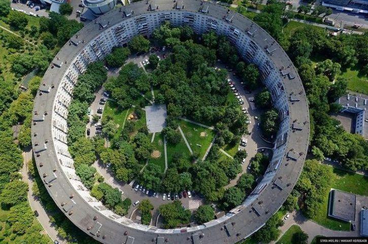 Un edificio stile Colosseo in Russia