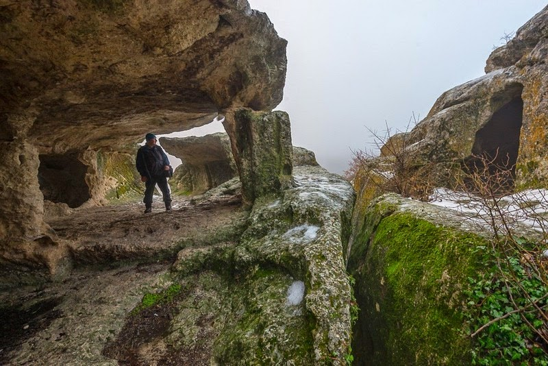 Eski Kerman, un'antica città della Crimea dove gli abitanti vivevano nelle grotte