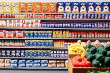 Un supermercato con 31.000 prodotti alimentari in feltro
