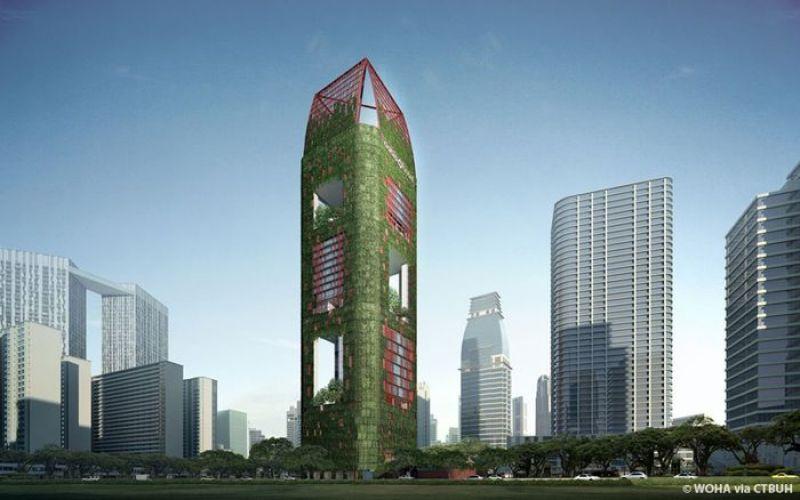 A Singapore c'è un grattacielo ricoperto di vegetazione