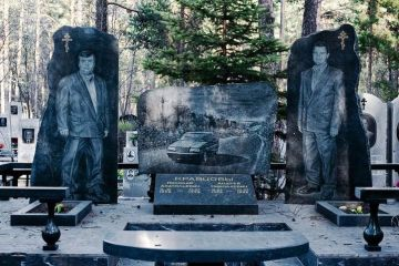 Il cimitero dei gangster di Shirokorechenskoe, in Russia