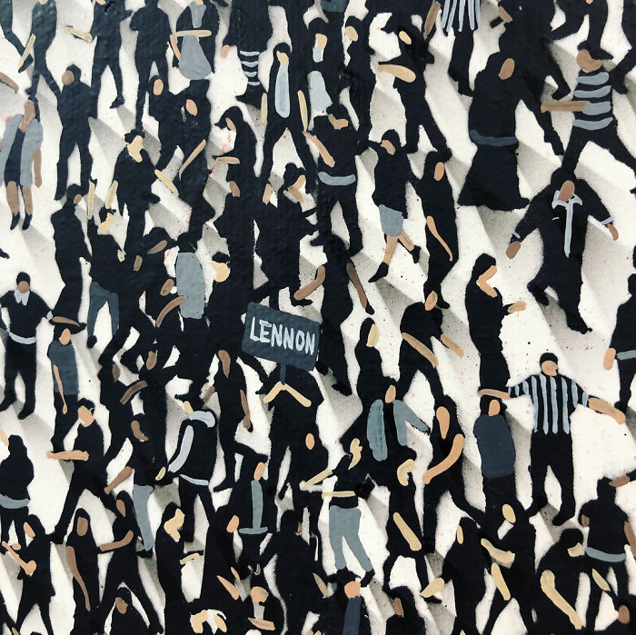 Immagini nelle immagini nei dipinti di Craig Alan