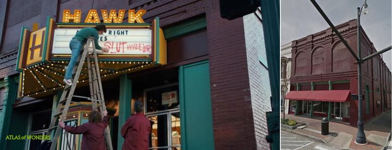 Insegna teatro-hawkins