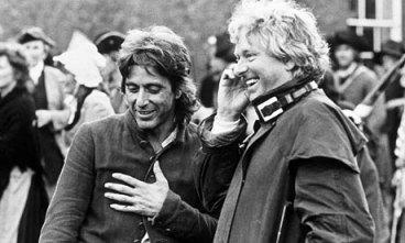 Pacino et Hudson - Tournage de Revolution