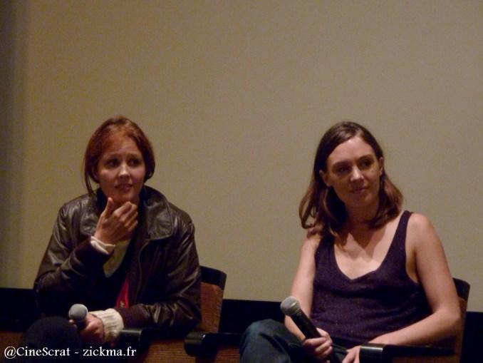 La réalisatrice Justine Triet et la comédienne Laetitia Dosch lors de la projection chez Ciné +