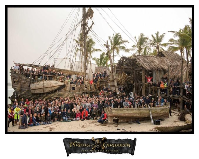 Pirates des caraibes 5 photo tournage