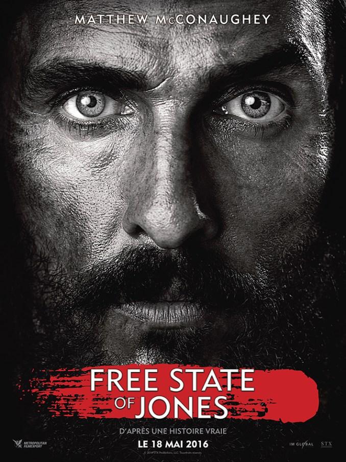 Free State of jones affiche FR