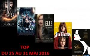 TOP 25 AU 31 MAI 2016