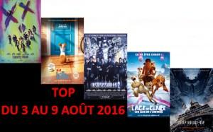 TOP 3 AU 9-8-2016