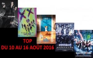 TOP DU 10 AU 16-8-2016