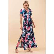 Maxi εμπριμέ φόρεμα