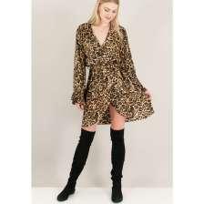 Animal print κρουαζέ φόρεμα.