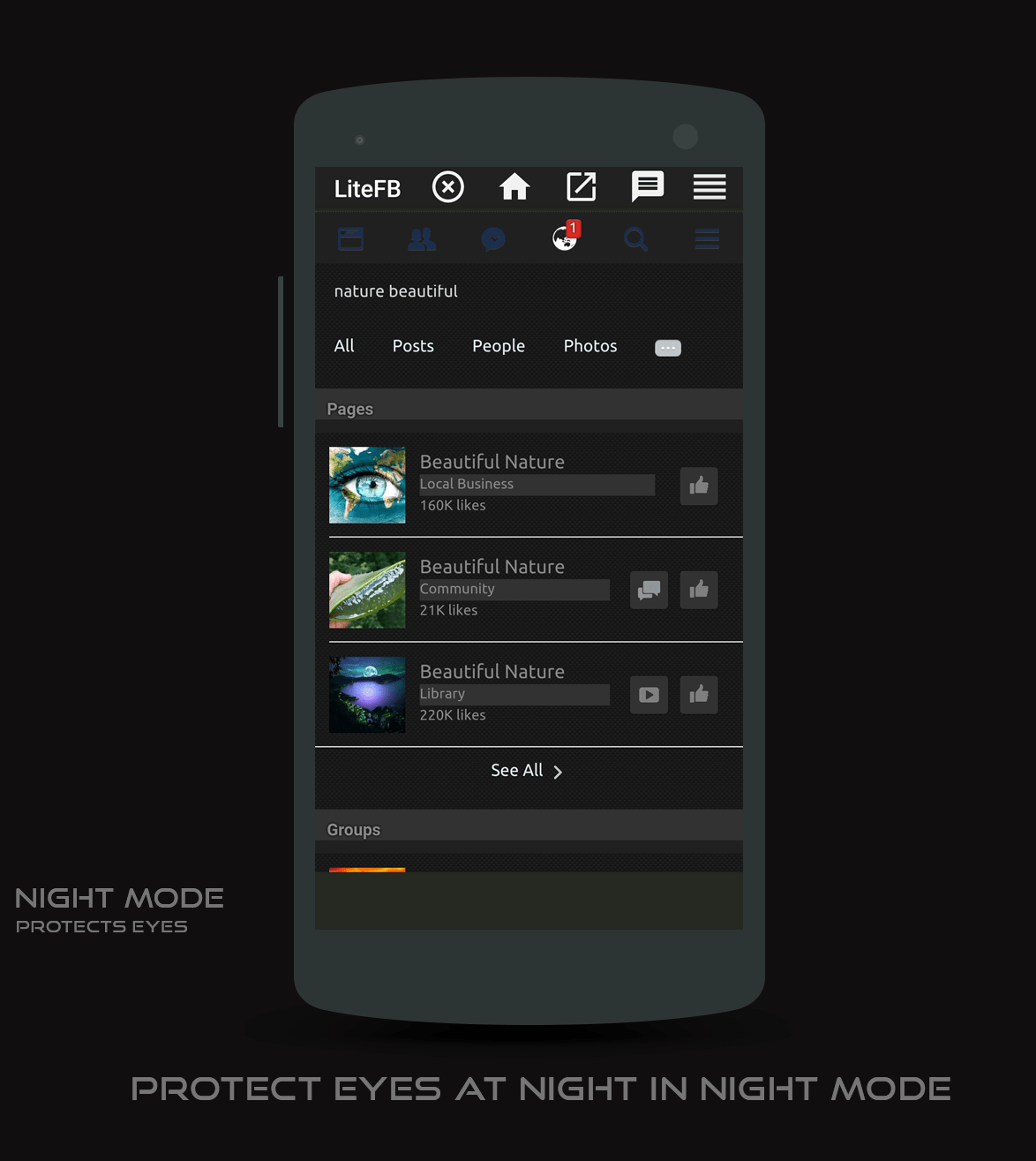 Lite Facebook App for Android with NightMode - Zid's world