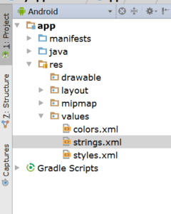 android studio strings image