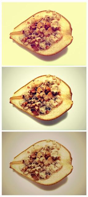 gruszki faszerowane serem pleśniowym i orzechami włoskimi
