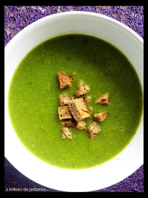 Zupa krem z brokułów i pora
