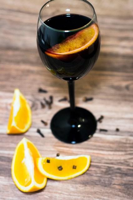Grzane wino z pomarańczą