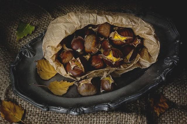 Idealne na jesień - pieczone kasztany
