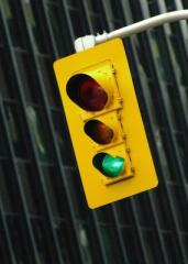 green traffic light - Traffic Safety is a Go at Corning West High School Intersection