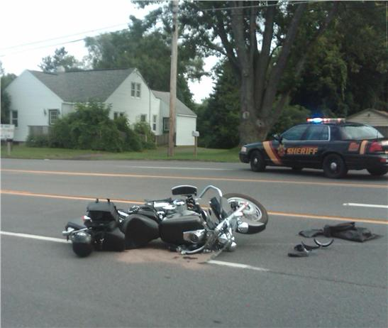 Motorcycle photo crash - Stay Away From Dangerous Intersections, NY and PA Motorcycle Lawyer Warns