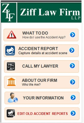 Ziff Accident App Screenshot blog2 - New Ziff Law Apps Help NY and PA Accident Victims Do The Right Thing After Crash!